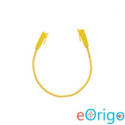 NikomaxLED panel - slave port összekötő kábel, árnyékolatlan, 0,3m, sárga