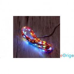 IRIS 2 programos 10m/IPX3 szabványos/több színű/100db LED-es/napelemes fénydekoráció (274-04)