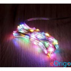 IRIS 8 programos 10m/távirányítós/több színű/100db LED-es/USB-s fénydekoráció (273-32)