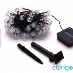 IRIS Buborékgömb alakú 16mm/8 programos/12m/IPX3 szabványos/meleg fehér//100db LED-es/napelemes fénydekoráció (317-04)