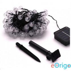 IRIS Buborékgömb alakú 23mm/8 programos/7m/IPX3 szabványos/meleg fehér/50db LED-es/napelemes fénydekoráció (317-03)