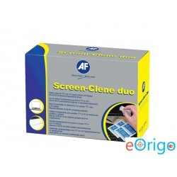 AF 'Screen-Clene Duo' Tisztítókendő, képernyőhöz, 20 db nedves-száraz kendőpár