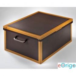 Lavatelli 623 Baulotto 'Color Cuoio' karton tárolódoboz (50x40x25cm)