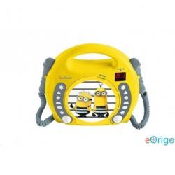 Lexibook RCDK100DES Minyonok mikrofonos CD lejátszó sárga-szürke