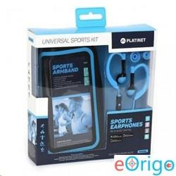 Platinet PM1070BL mikrofonos sport fülhallgató + karpánt kék