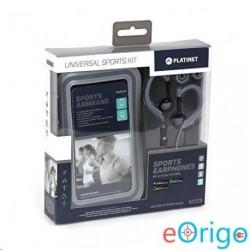 Platinet PM1070GR mikrofonos sport fülhallgató + karpánt szürke