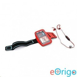 Platinet PM1070R mikrofonos sport fülhallgató + karpánt piros