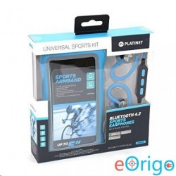Platinet PM1075BL Bluetooth mikrofonos sport fülhallgató + karpánt kék