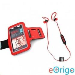 Platinet PM1075R Bluetooth mikrofonos sport fülhallgató + karpánt piros