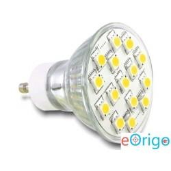 Delock DL46188 GU10 LED fényforrás 15 SMD 5050 LED 3.5W meleg fehér