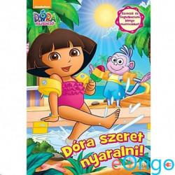 JCS Média Dóra a felfedező: Dóra szeret nyaralni matricás foglalkoztató könyv