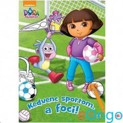 JCS Média Dóra a felfedező: Kedvenc sportom, a foci! foglalkoztató könyv