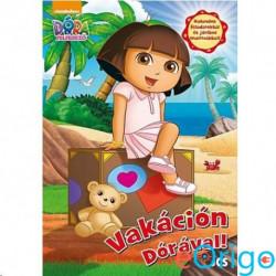 JCS Média Dóra a felfedező: Vakáción Dórával! matricás foglalkoztató könyv