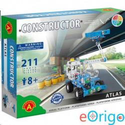 Alexander Toys Atlas emelőkosaras autó fém építőjáték 211db-os