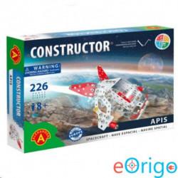 Alexander Toys Fehér kutató űrhajó modell fém építőjáték 226db-os