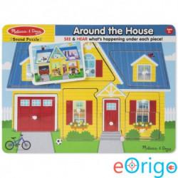Melissa & Doug A ház körül hangos puzzle