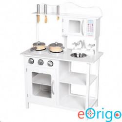 Bino Toys Amélie fából készült fehér konyhabútor kiegészítőkkel fehér