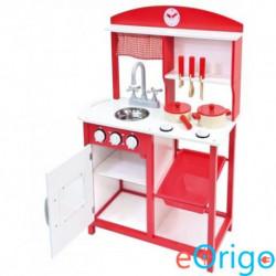 Bino Toys fa konyha kiegészítőkkel piros