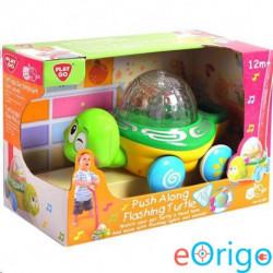 Playgo Tologatható teknős hanggal és fénnyel