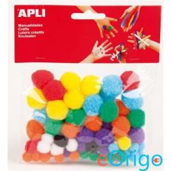 APLI ˝Creative˝ Pom-pom vegyes színek (13061)