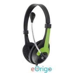 Esperanza ROOSTER mikrofonos fejhallgató zöld-fekete