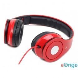Gembird mikrofonos fejhallgató piros