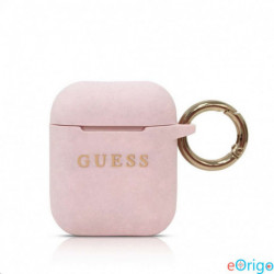 Guess Airpods szililkon tok rózsaszín (GUACCSILGLPK)